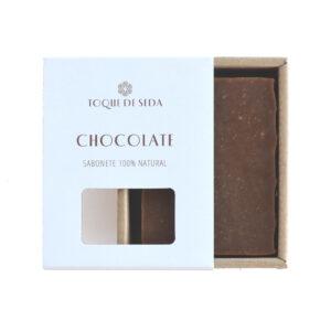 sabonete de chocolate em caixa de cartão