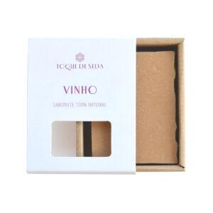 sabonete de vinho em caixa de cartão
